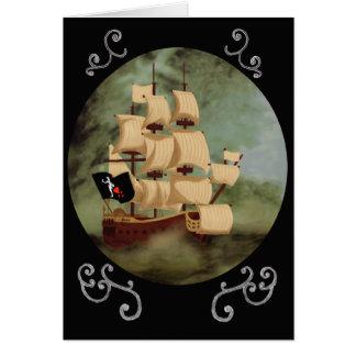 Carte de note du bateau de Blackbeard (vengeance