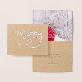 Carte de note en lettres de main de Noël