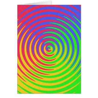 Carte de note en spirale d'arc-en-ciel