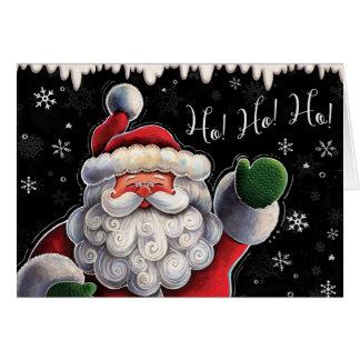 Carte de note exclusive de Noël de Père Noël