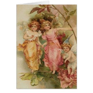 Carte de note - fées vintages