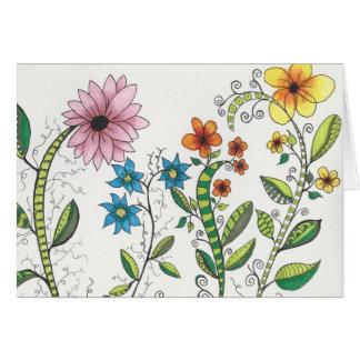 Carte de note florale de Zendoodley