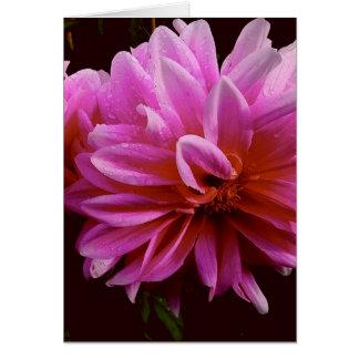 Carte de note florale rose