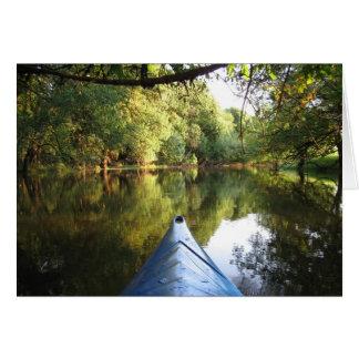 Carte de note Kayaking d'aventure