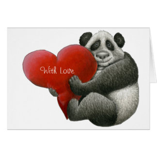 Carte de note mignonne de panda