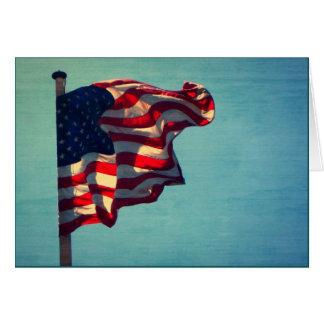 Carte de note patriotique de drapeau américain