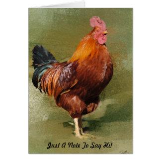 Carte de note peinte par huile de poulet