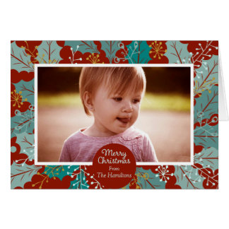 Carte de note photographique de Joyeux Noël