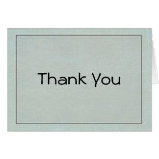 Carte de note verte de Merci