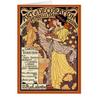 Carte de Nouveau d'art : Art et décoration