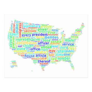 Carte de nuage de mot de constitution des USA sur