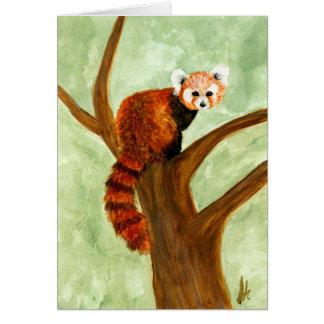 Carte de panda rouge
