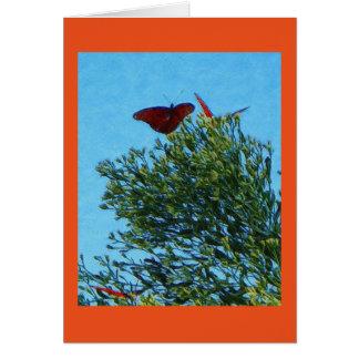 Carte de papillon de monarque