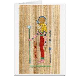 Carte de papyrus de Sekhmet