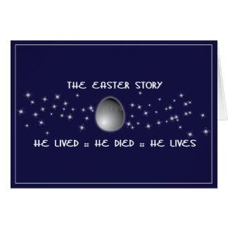Carte de Pâques chrétienne d'histoire de Pâques