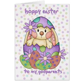 Carte de Pâques de parrain avec le lapin de Pâques