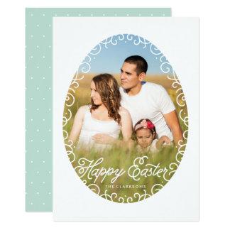 Carte de Pâques décorative de cadre d'oeufs Carton D'invitation 12,7 Cm X 17,78 Cm