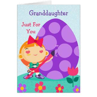 Carte de Pâques heureuse à ma petite-fille