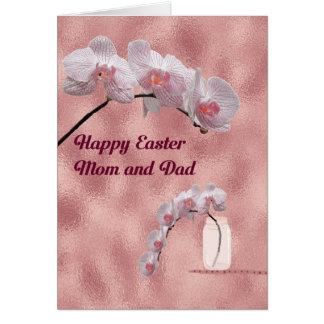 Carte de Pâques pour la conception d'orchidée de