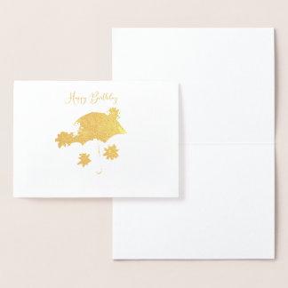 Carte de parapluie d'or
