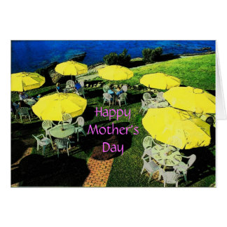 Carte de parapluies du jour de mère