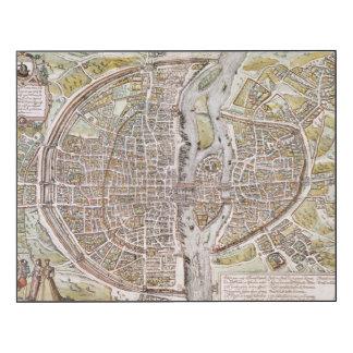 CARTE DE PARIS, 1581