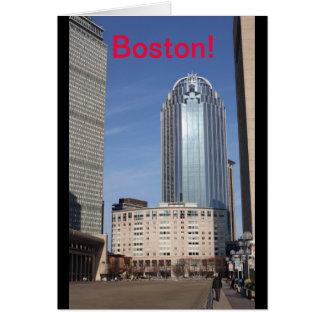 Carte de paysage urbain de Boston