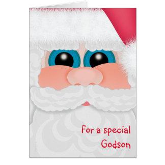 Carte de Père Noël d'amusement de filleul de