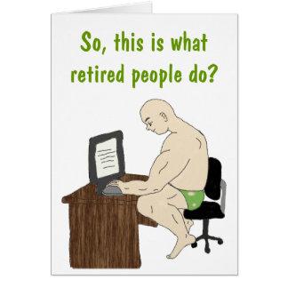 Carte de personnes retraitées