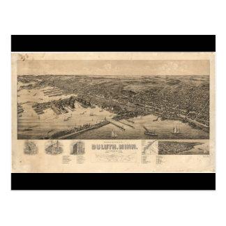 Carte de perspective de Duluth Minnesota (1893)