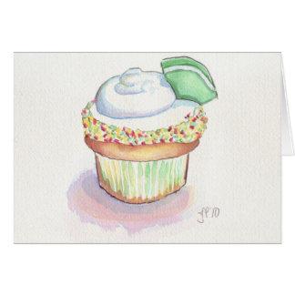 Carte de petit gâteau de margarita