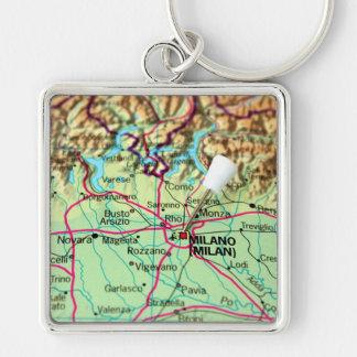 Carte de Pin de la ville de Milan, Italie Porte-clés