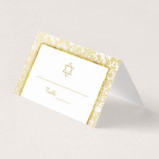 Carte De Placement Bat mitzvah de damassé d'or