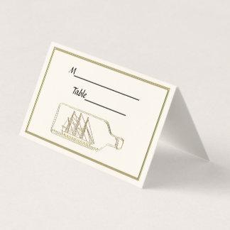 Carte De Placement Bateau dans un or de bouteille - la BG ene ivoire