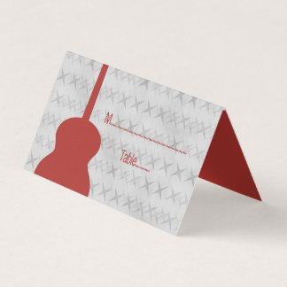Carte De Placement Carte couverte grunge d'endroit de guitare rouge
