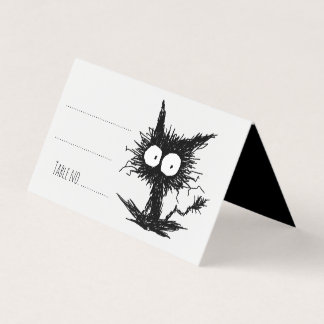 Carte De Placement Chaton mal peigné noir GabiGabi