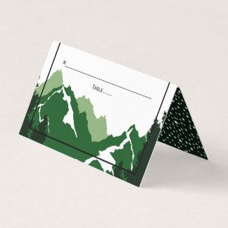 Carte De Placement Escorte pliée par mariage vert d'hiver de
