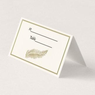 Carte De Placement La plume BG ene ivoire de plume d'or escortent des