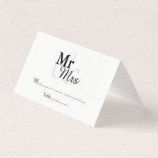Carte De Placement Mariage élégant simple de Mr&Mrs