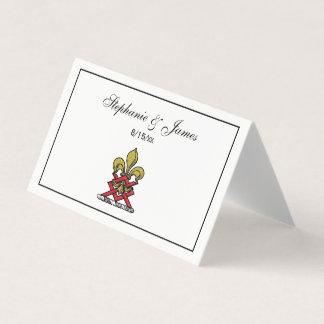 Carte De Placement Or de très bon goût Crest Fleur de Lis Emblem