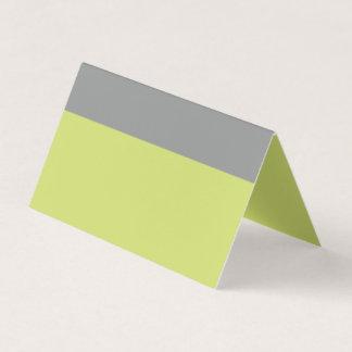 Carte De Placement Vert moderne et gris