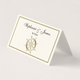 Carte De Placement Wheel de capitaine/ivoire d'or de Faux roue du
