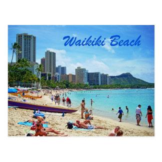 Carte de plage de Waikiki