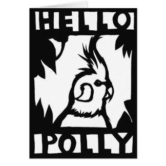 Carte de Polly de Cockatiel bonjour