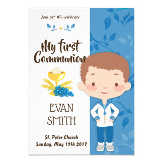 carte de première communion pour enfant