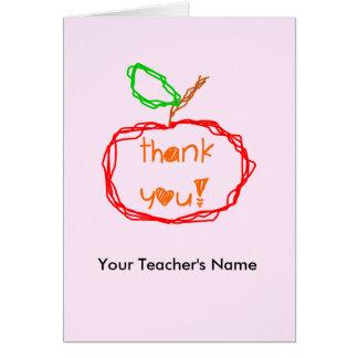 Carte de professeur personnalisée de Merci