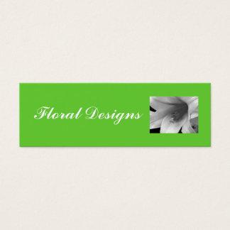 Carte de profil de fleuriste