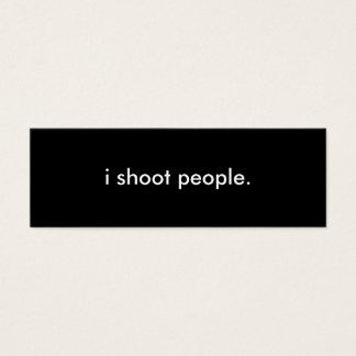 Carte de profil de photographie