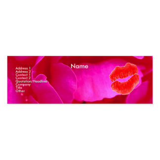 """Carte de profil du rose I de rose """"d'artiste de ma Modèles De Cartes De Visite"""