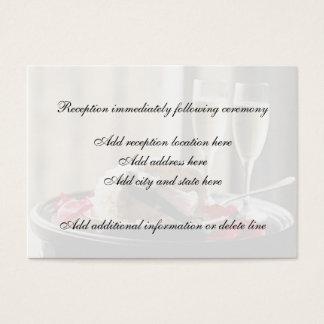 Carte de réception de célébration de mariage